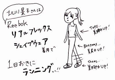 北川景子さんのシェイプアップの秘密は「Reebokリアルフレックス」を履いて歩く